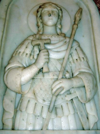 Sarcophage de saint Georges dans son église de Lydda (détail)