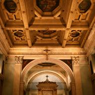 Santa Maria della Consolazione - le retable de la Vierge de Consolation (1502) - le plafond à caisson avec les peintures de Camillo Procaccini (1561 † 1629)