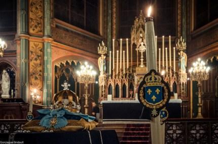 Requiem pour Louis XVI en 2014 - le catafalque et le maître autel