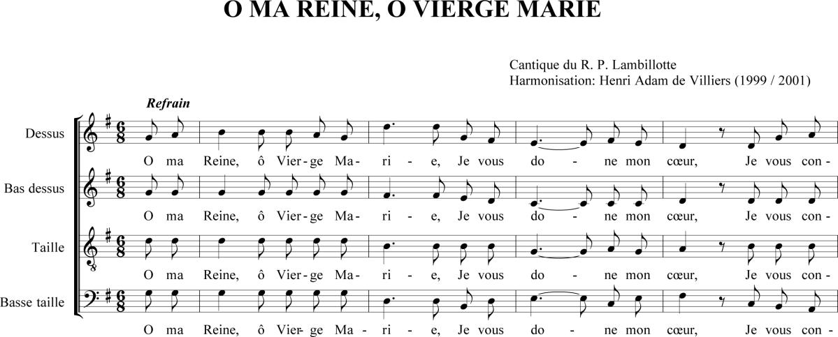 R.P. Louis Lambillotte - O ma Reine, ô Vierge Marie