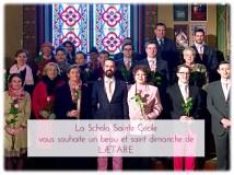 Lætare 2015 - La Schola Sainte Cécile après la messe