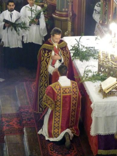 Rameaux 2015 - 07 - bénédiction du diacre avant l'évangile des Rameaux