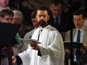 05 - Jeudi Saint 2015 - la Schola Sainte Cécile et son maître de chapelle