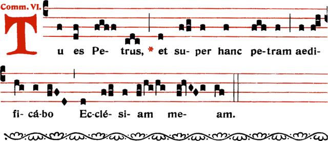 Communion - Tu es Petrus - ton 6