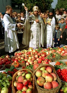 Bénédiction des fruits à la Transfiguration en Russie 02