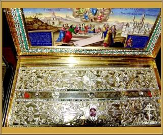 Reliquaire de la précieuse Ceinture de la Mère de Dieu conservée à Vatopaidi
