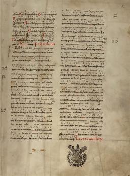 Messe grecque de Saint-Denis - Missel du XIème s. - Credo en grec