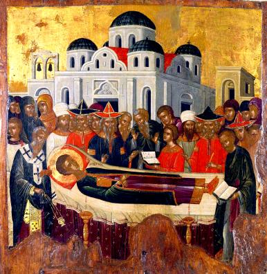 Les funérailles de saint Démétrios de Thessalonique.