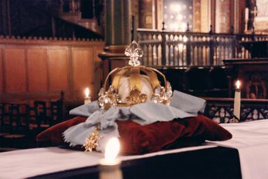 17-Requiem pour Louis XVI - le catafalque après l'absoute