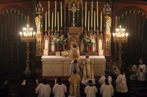 03-Messe d'exposition des Quarante-Heures - élévation du Corps du Seigneur