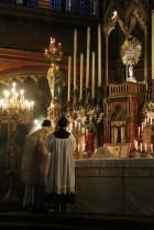 10-Messe de reposition des Quarante-Heures coram Sanctissomo - encensement de l'évangile