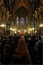 Saint-Eugène durant le témoignage de Mgr Daoud Sharaf