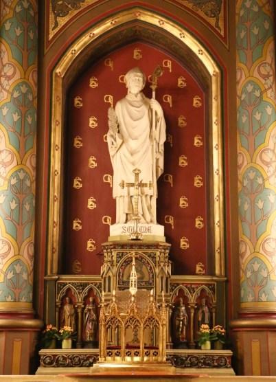 Les reliques de saint Eugène honorée sur son autel