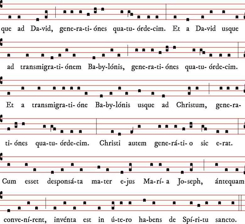 Généalogie de Notre Seigneur Jésus-Christ selon Matthieu, des matines de Noël - tradition parisienne 04