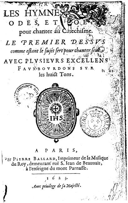 D'Ambleville - Ballard 1623 - Frontispice