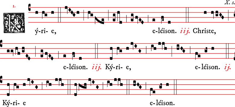 Kyrie - messe I - rit dominicain
