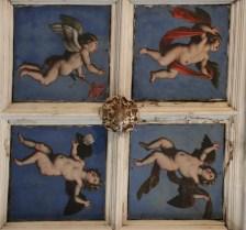 le plafond à caisson du XVI ème siècle