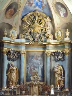 Hautecour, église Saint-Etienne : retable de Joseph Gilardi et Schira (1825).
