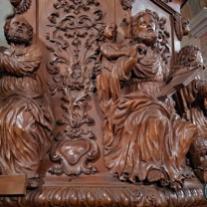 Chaire de l'église Saint-Grat de Conflans, détail.