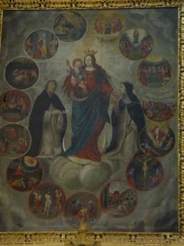 Granier, église Saint-Barthélémy, retable du rosaire.