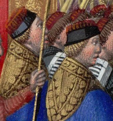 Procession de la Fête-Dieu à Saint-Germain-L'Auxerrois : les chantres en chape.