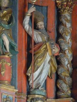 Hauteville-Gondon, retable majeur : saint Ambroise.