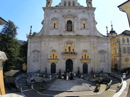 Sacro Monte de Varallo : la schola après la messe.