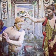 Sacro Monte de Varallo : le baptême du Christ par saint Jean Baptiste