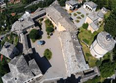 Sacro Monte de Varallo : les sanctuaires vus du ciel.