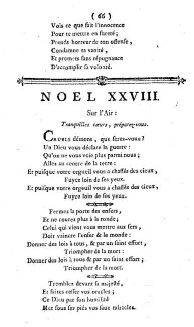 Noël de Lully : texte du XXVIIème noël : Avant que rien fut au monde