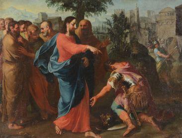 La guérison du serviteur du centurion - Cercle de Bernardo Castello (1557 † 1629)
