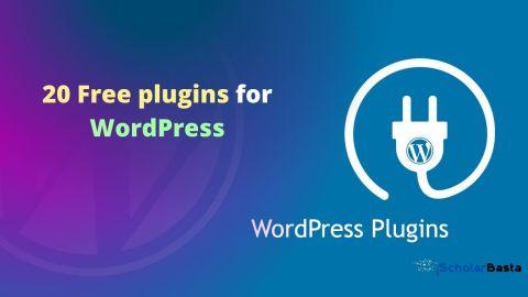 Free plugins for WordPress