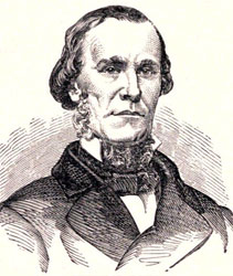 Joseph E. Brown, from Pictorial History of the Civil War in the United States of America, by Benson J. Lossing, 1866