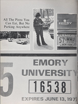 A page from the 1977 Campus yearbook