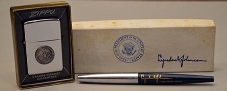Lyndon B. Johnson's Pen and Zippo Lighter