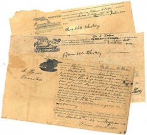 Bills of Landing from the Porter Family Papers