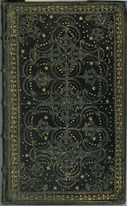 """The Art of Contentment, Richard Allestree, 1675, English binding from the 17th century with distinctive """"drawer handle"""" tooling"""