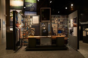 """A creative reimagining of Heaney's office from the """"Seamus Heaney: The Music of What Happens"""" Exhibition"""