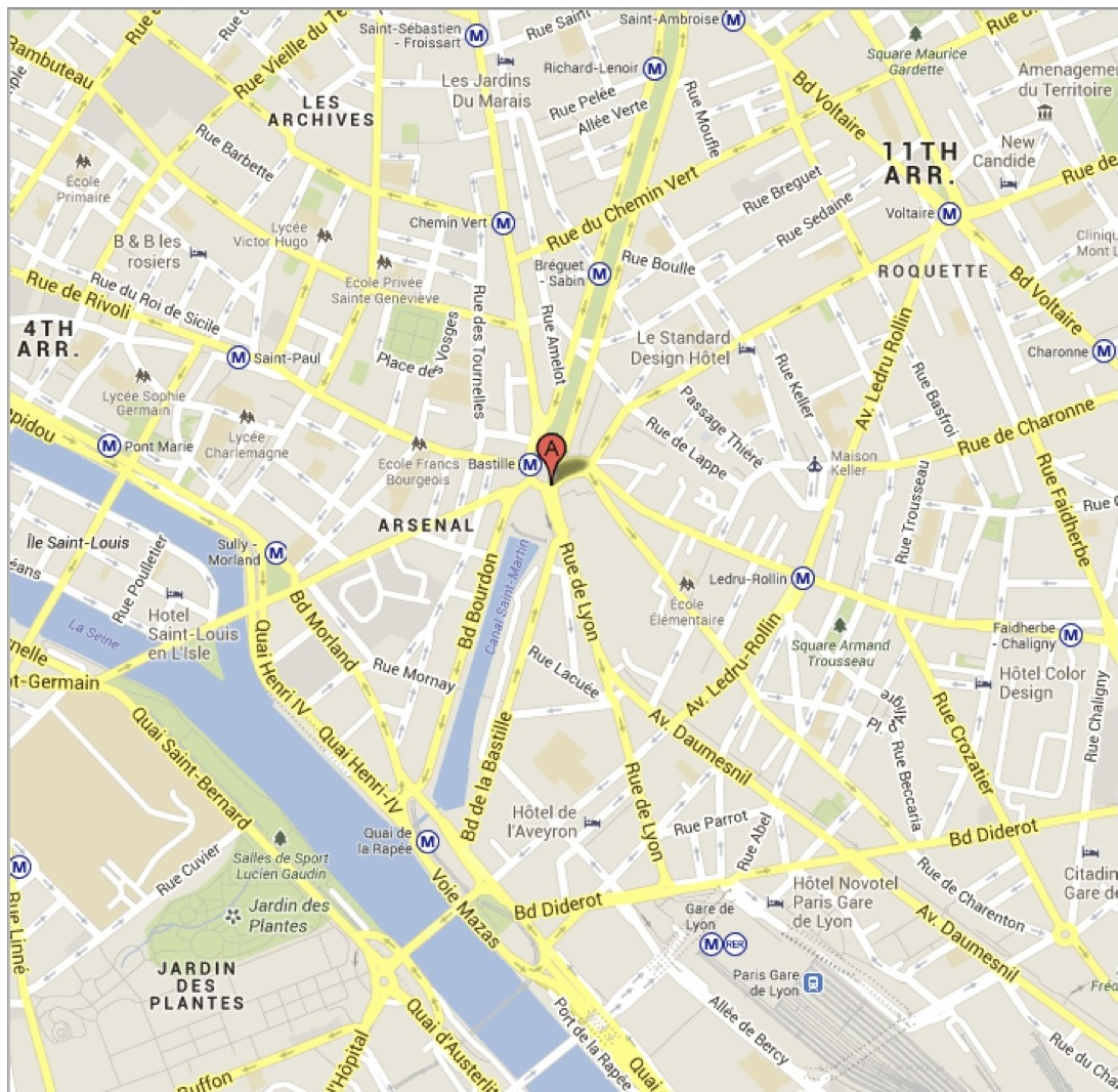 Youre In Paris What Can You Be Worried About NBB In Paris - Map of bastille area paris