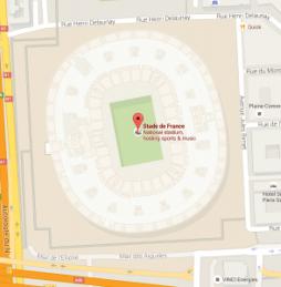 Map of Stade de France