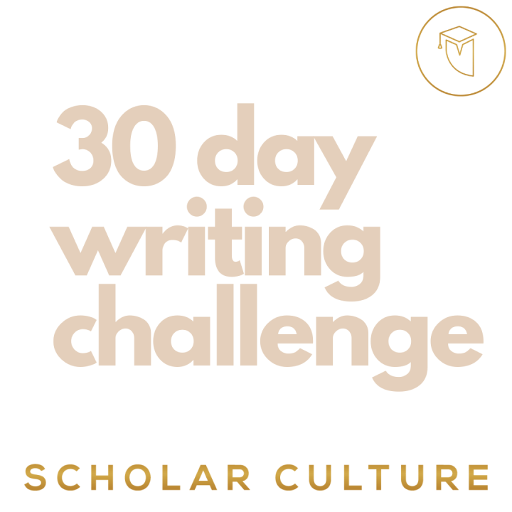 30 Day Writing Challenge - image  on https://scholarculture.com