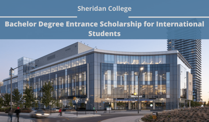 Image result for Bachelor Degree Entrance funding for International Students at Sheridan College, Canada