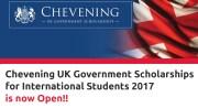 British Chevening Scholarships for International Students