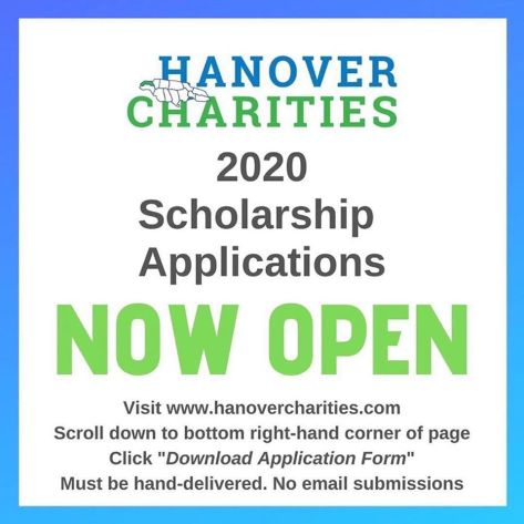 Applications are invited from qualified applicants to apply for the annual 2020 Hanover Charities Scholarship Program from the generous Hanover based organization. Follow us on our social media pages for further information. Deadline: April 3, 2020 • www.hanovercharities.com