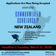 Commonwealth Scholarships In New Zealand