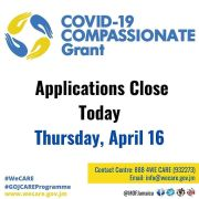The COVID Compassionate Grant Applications are Now Closed