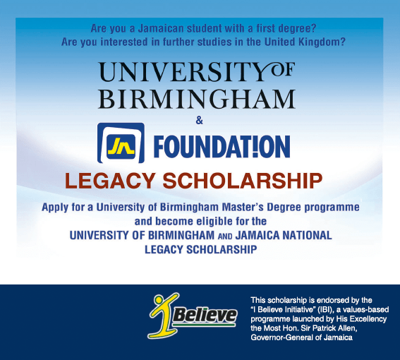 Apply for the JN Foundation Legacy Scholarship in association with the University of Birmingham for graduate study abroad programme by April annually
