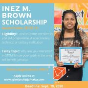 How to Apply for the 2020 Inez M. Brown Scholarships