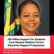 J$4 Million Support for Students from Marlene Malahoo Forte's Education Support Programme