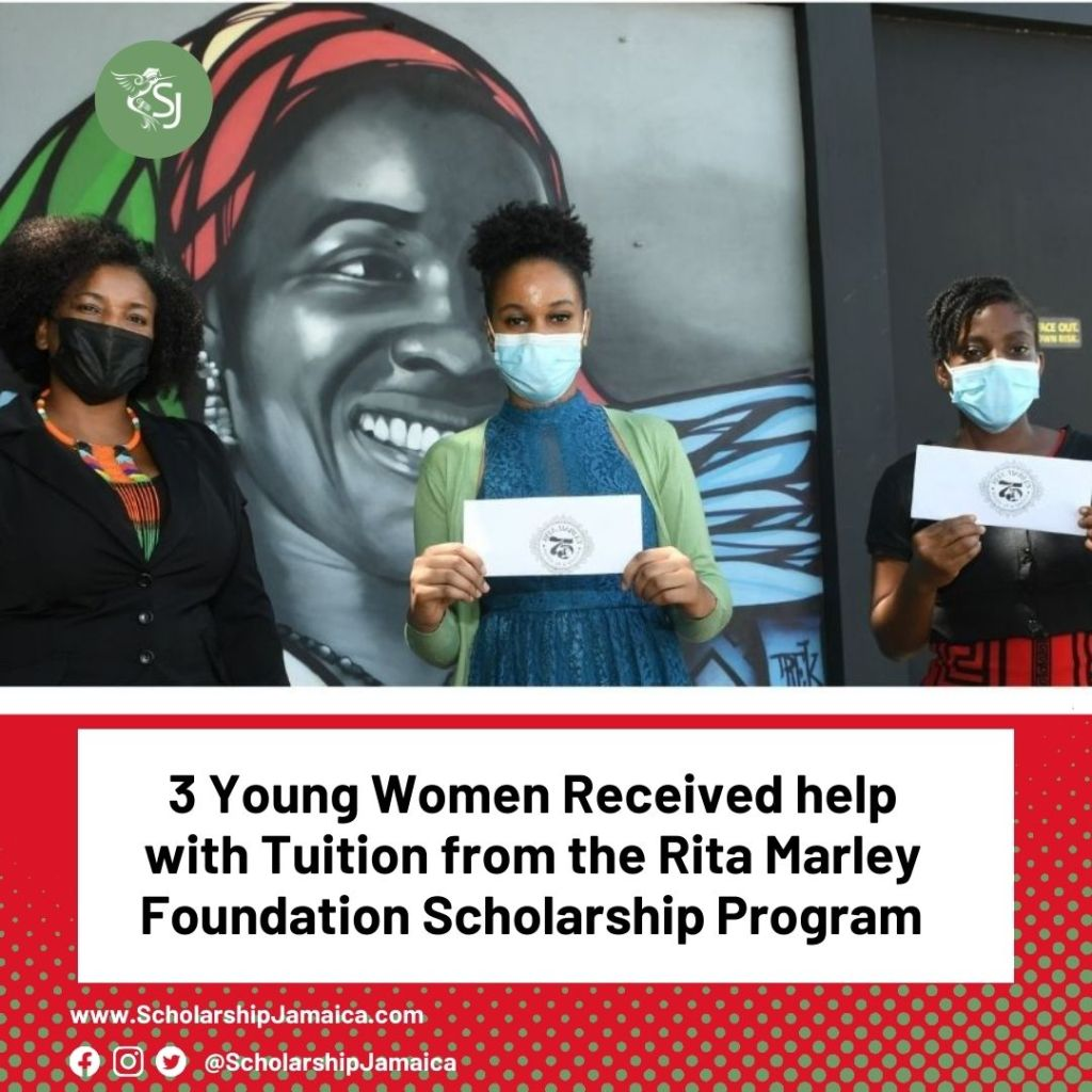 Three tertiary students have been chosen by the Rita Marley Foundation scholarships (RMF) as the first recipients of the inaugural Rita Marley Scholarship, launched in honour of her 75th birthday on July 25.
